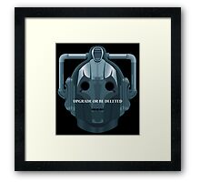 Doctor Who Cyberman - Upgrade or be Deleted Framed Print