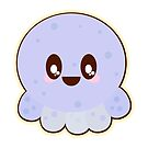 Cute Kawaii Baby Blue Octopus by doonidesigns