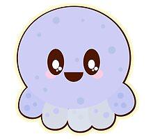 Cute Kawaii Baby Blue Octopus by doonidesigns