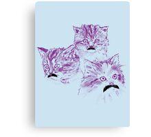 Meowstache Canvas Print