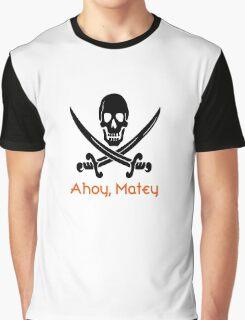 Ahoy, Matey (black/orange) Graphic T-Shirt