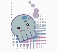 Pastel Blue Octopus by doonidesigns