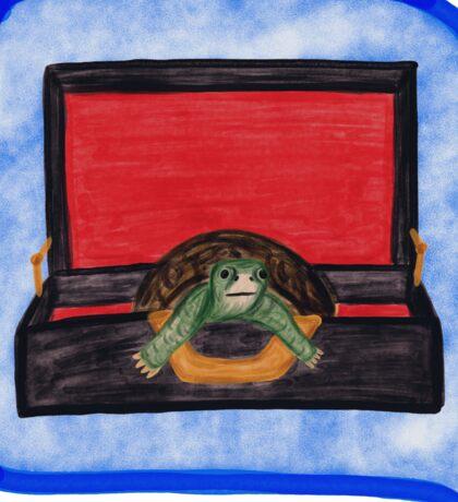 Turtle in a Briefcase Sticker