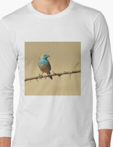 Blue Waxbill - Colorful Exotic Birds from Africa - Colors in Nature Long Sleeve T-Shirt