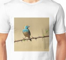Blue Waxbill - Colorful Exotic Birds from Africa - Colors in Nature Unisex T-Shirt