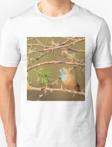 Blue Waxbill - Exotic Colorful Wild Birds from Africa - Sharp Beauty Unisex T-Shirt