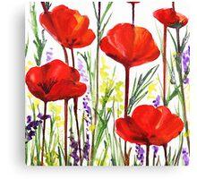 Red Poppy Decor by Irina Sztukowski Canvas Print