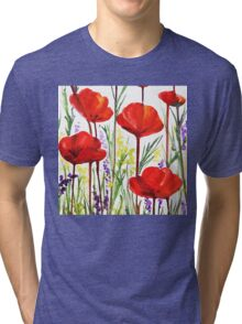Red Poppy Decor by Irina Sztukowski Tri-blend T-Shirt