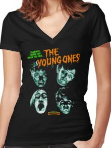 THE YOUNG ONES Nasty Women's Fitted V-Neck T-Shirt