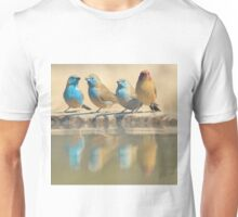 Exotic Colorful Wild Birds from Africa - Blue and Violet-eared Waxbill - Colors in Nature Unisex T-Shirt