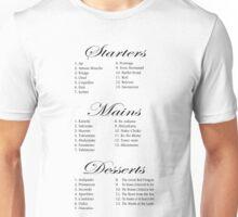 'Hannibal' Inspired Menus Unisex T-Shirt