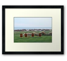 Chairs at the Ocean Course 18th Green Framed Print