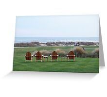Chairs at the Ocean Course 18th Green Greeting Card