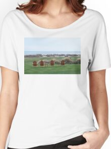 Chairs at the Ocean Course 18th Green Women's Relaxed Fit T-Shirt
