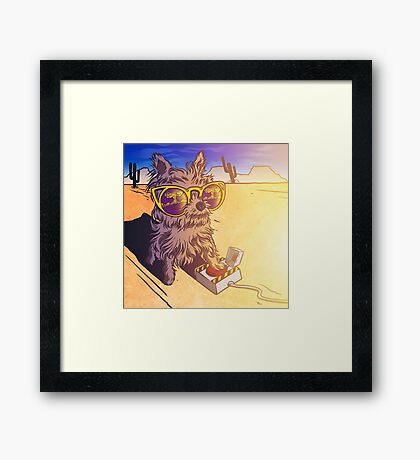 Blowing things up! Framed Print