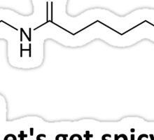 Capsaicin - The spicy molecule Sticker