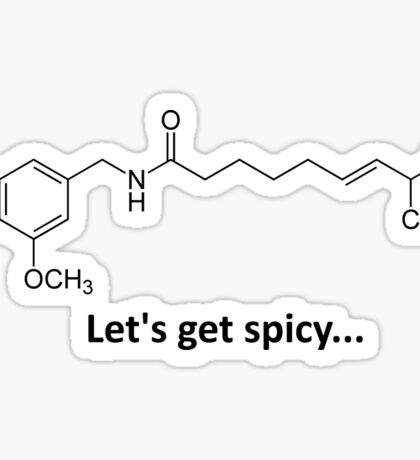 Capsaicin - The spicy molecule Sticker