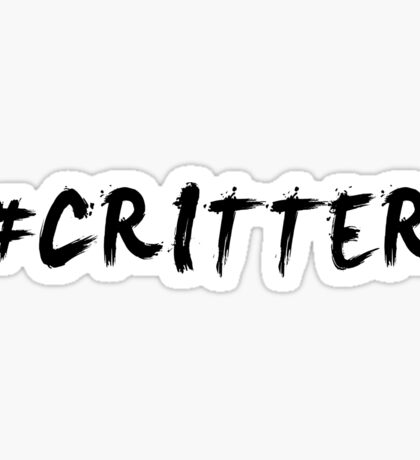 #Critter (Black)  Sticker
