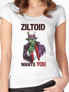 Uncle Ziltoid Wants You! Women's Fitted Scoop T-Shirt