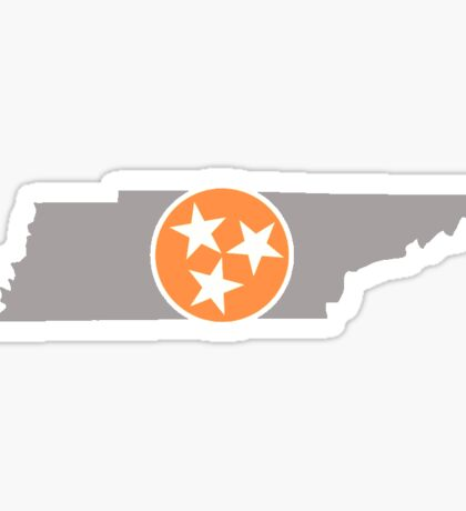 Tennessee State Outline with Tri-Star Sticker