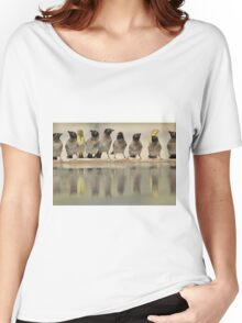 Colorful Exotic Wild Birds from Africa - Water is Life - Bulbul and Weaver Women's Relaxed Fit T-Shirt