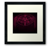 Pink Pagan Star Power Framed Print