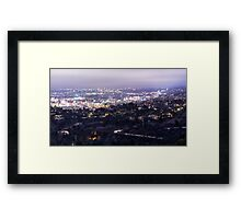 Los Angeles Nightscape No. 2 Framed Print