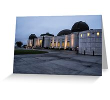 Griffith Park Observatory at Dusk No. 1 Greeting Card