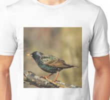 European Starling - Colorful Wild Birds - Iridescent Green Unisex T-Shirt