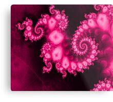 Universal Pink Chakra Fractal Metal Print