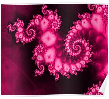 Universal Pink Chakra Fractal Poster