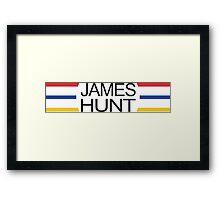 James Hunt Helmet Design Framed Print
