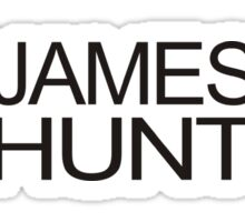 James Hunt Helmet Design Sticker