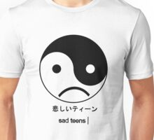 SAD YING YANG Unisex T-Shirt
