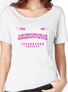 cute pink ouija board! Women's Relaxed Fit T-Shirt