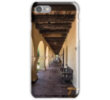 Old Mission in Santa Barbara Covered Patio iPhone Case/Skin