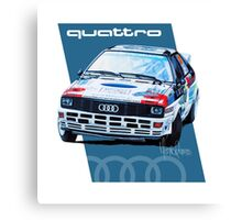 Audi Quattro Rally Drawing - Cold Canvas Print