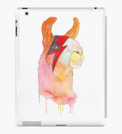"""A-Llama Sane"", Ziggy Stardust Llama iPad Case/Skin"