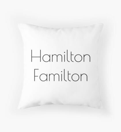 HAM FAM Throw Pillow