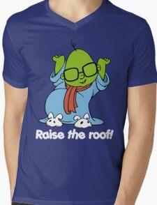 Muppet Babies - Bunsen - Raise The Roof - White Font Mens V-Neck T-Shirt