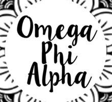 Omega Phi Alpha Mandala Sticker