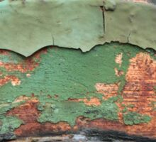Green and Rust Sticker