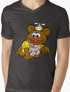 Muppet Babies - Fozzie Bear - Crawling Mens V-Neck T-Shirt