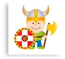 Little Viking Illustration Canvas Print