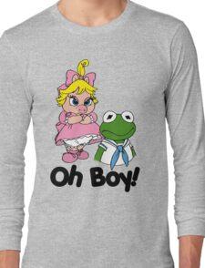 Muppet Babies - Kermit & Miss Piggy - Oh Boy Long Sleeve T-Shirt