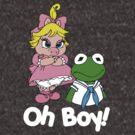 Muppet Babies - Kermit & Miss Piggy - Oh Boy - White Font by DGArt