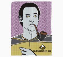 Lt. Commander Data of the starship Enerprise SMALLER FOR YER CROP TOP/GRAPHIC TEE PLEASURE! Baby Tee