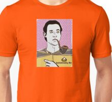 Lt. Commander Data of the starship Enerprise SMALLER FOR YER CROP TOP/GRAPHIC TEE PLEASURE! Unisex T-Shirt