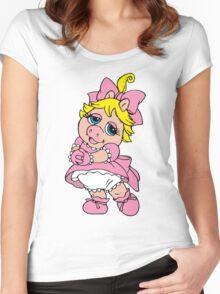 Muppet Babies - Baby Piggie Women's Fitted Scoop T-Shirt