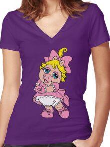 Muppet Babies - Baby Piggie Women's Fitted V-Neck T-Shirt